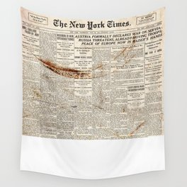 Vintage New York Times Wall Tapestry