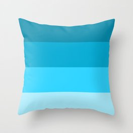 Blue Horizontal Stripes Design Throw Pillow