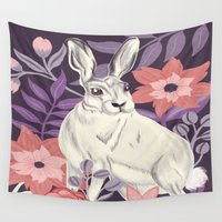 hare Wall Tapestries featuring Hare by Abbie Imagine