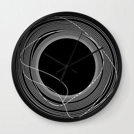 White Tangled Circles Wall Clock