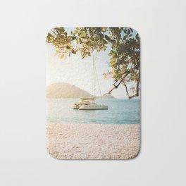 Fitzroy Island Catamaran | Cairns Australia Tropical Beach Sunset Photography Bath Mat