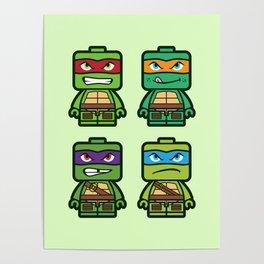 Chibi Ninja Turtles Poster