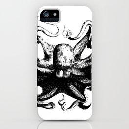 Cool Aqua animal Octopus sketch iPhone Case