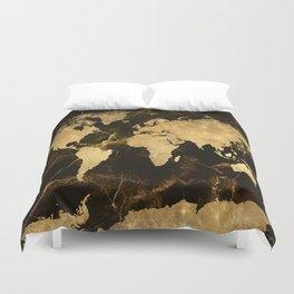 world map marble 5 Duvet Cover