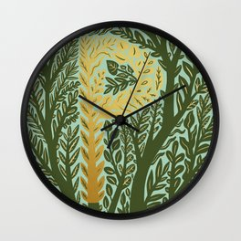 Botanical Metallic Monogram - Letter P Wall Clock