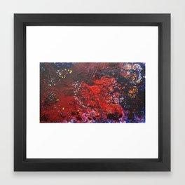 Abstract liquidity. Framed Art Print