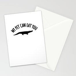 my pet can eat you crocodile pet eat Stationery Cards