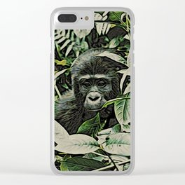 Animal ArtStudio 22516 Gorilla Baby Clear iPhone Case