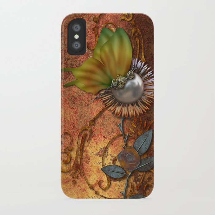 Steampunk butterfly iPhone Case