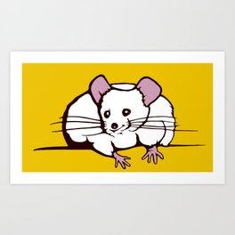 Fat mouse Art Print