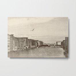 A postcard from Trondheim Metal Print