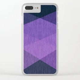Geometric abstract pattern 16 Clear iPhone Case
