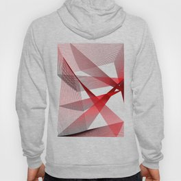 Red blue Geometric abstract Hoody