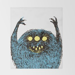 duty monster Throw Blanket