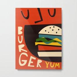 Yum Burger Metal Print