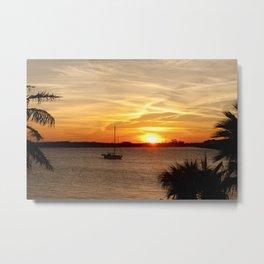 Sunset on Deck Metal Print
