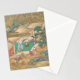 The Tale of the Bamboo Cutter - Discovery of Princess Kaguya, 17th Century Stationery Cards