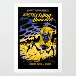 Earth vs. the Flying Saucers Art Print