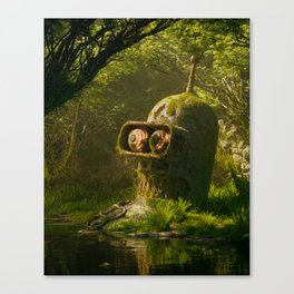 Rusty metal ass Canvas Print