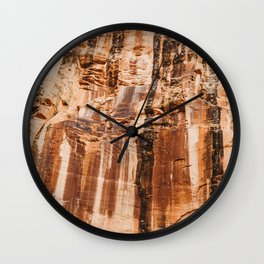 The red dust and the burnt cliffs Wall Clock