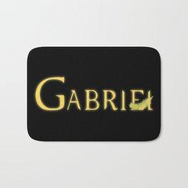 Gabriel with Feather Bath Mat