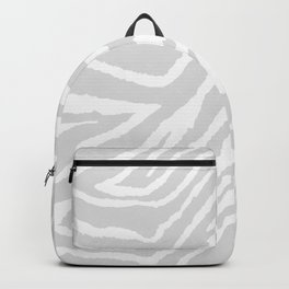 ZEBRA GRAY AND WHITE ANIMAL PRINT Backpack