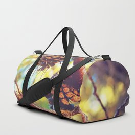 Autumn pine cones  #photography Duffle Bag
