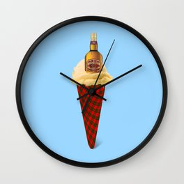 Whiskey. Ice cream Wall Clock