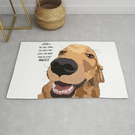 Golden Retriever dog love Rug