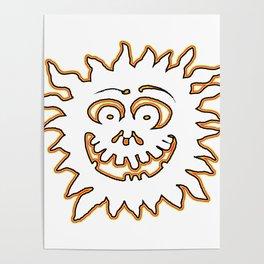 Sunburst jGibney The MUSEUM Society6 Gifts Poster
