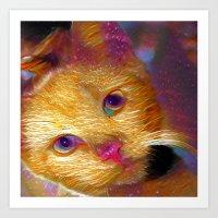 Galaxy Meow Art Print