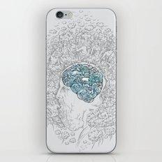 Ancient Brainstorm grey iPhone Skin