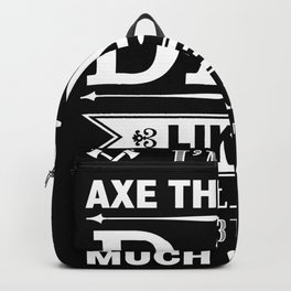 Axe throwing dad  | Father's Day gift Backpack