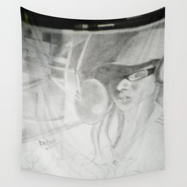 Where does she sit my muse V Wall Tapestry