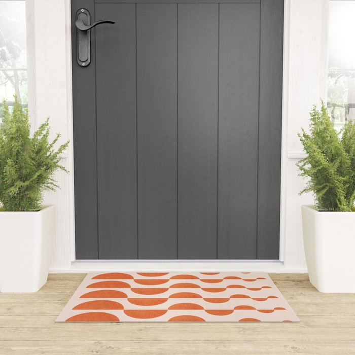 Abstraction_ROUND_WAVES_Minimalism_001 Welcome Mat