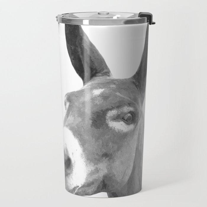 Black and white donkey Travel Mug