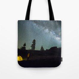 Milky way in La Palma Tote Bag