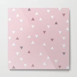 DOWN UP / powder pink / cool grey / lavender Metal Print