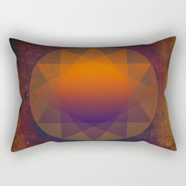 Merkaba, Abstract Geometric Shapes Rectangular Pillow