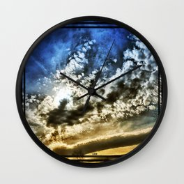 Setting Sun With Hopes To Come Wall Clock