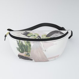 pink & plants 4 Fanny Pack