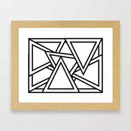 Lost in Triangularity Framed Art Print