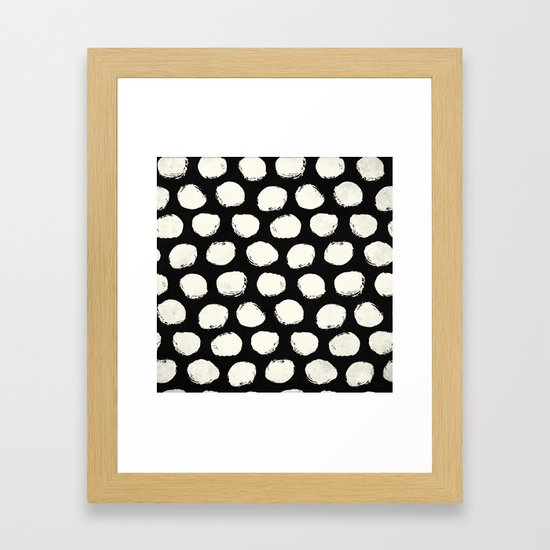 Trendy Cream Polka Dots on Black by followmeinstead