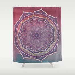 Pink and Blue Mandala Shower Curtain