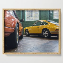 Classic vintage sports cars Serving Tray