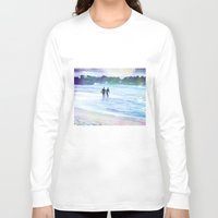 surfer Long Sleeve T-shirts featuring Surfer Boys by Teresa Chipperfield Studios