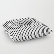 V. Black Summer lines Floor Pillow