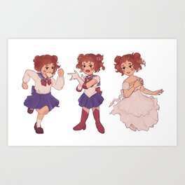 sailor ochako Art Print