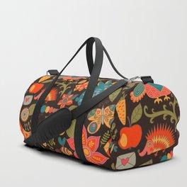 Funny khokhloma pattern Duffle Bag