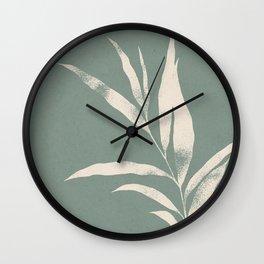 Olive Branch 02 - Ivory & Iceberg Green Wall Clock